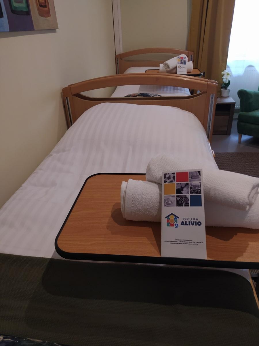 Zdjęcie przedstawiające łóżko wCentrum Wytchnieniowym